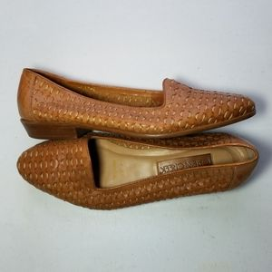 Cabin Creek Shoe Leather Weave Pointed Loafer 9M